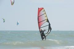 Ressaca do papagaio ou placa do papagaio, esporte de água Fotos de Stock Royalty Free