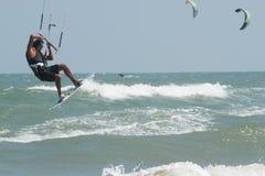 Ressaca do papagaio ou placa do papagaio, esporte de água Fotografia de Stock Royalty Free