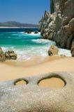 Ressaca e praia Imagem de Stock Royalty Free