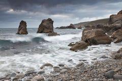 Ressaca pacífica na costa de Califórnia Imagem de Stock Royalty Free