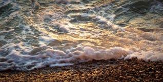 Ressaca, praia 2 de Eretat france 2010 Imagens de Stock Royalty Free