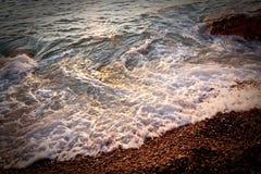 Ressaca, praia 1 de Eretat france 2010 Fotografia de Stock Royalty Free