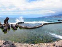 Ressacs, de la plage de l'Espagne photographie stock