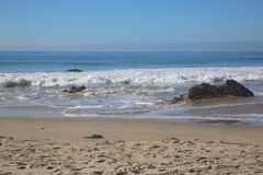 Ressacs Pacifiques la Californie Image libre de droits