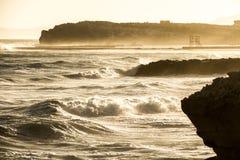 Falaise de rivage Photographie stock libre de droits