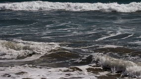 Ressacs sur Sandy Beach Santa Monica California clips vidéos