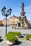 Ressel kvadrerar, Chrudim, Tjeckien, Europa Royaltyfri Fotografi