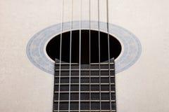 Ressonador de uma guitarra clássica com as cordas Imagem de Stock Royalty Free