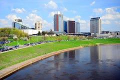Ressort au centre de la ville de Vilnius le 28 avril 2015 Images stock