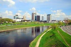 Ressort au centre de la ville de Vilnius le 28 avril 2015 Image libre de droits