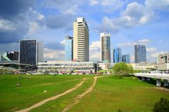 Ressort au centre de la ville de Vilnius le 28 avril 2015 Photographie stock