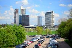Ressort au centre de la ville de Vilnius le 28 avril 2015 Photos stock