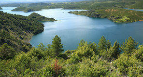 Ressort au lac Photographie stock