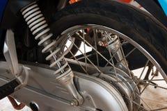 Ressort d'amortisseur de moto Photo libre de droits