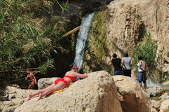 Ressort d'Ein Gedi - Israël Photo libre de droits