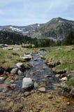 Ressort dans la vallée de Madriu-Perafita-Claror photo stock