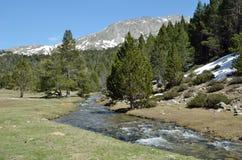 Ressort dans la vallée de Madriu-Perafita-Claror photos libres de droits