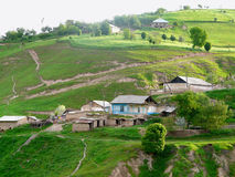 Ressort dans le village tadjik Image libre de droits