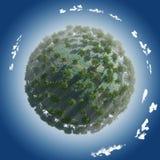 Ressort de saison de planète Image libre de droits