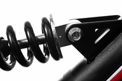Ressort de suspension d'un vélo de montagne Images libres de droits