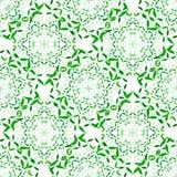 Ressort floral vert Mandala Seamless Pattern de vecteur illustration stock