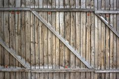 Ressort frais au-dessus du fond en bois de barrière Image libre de droits