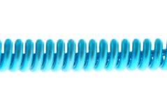 Ressort hélicoïdal bleu Photo stock
