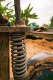 Ressort hélicoïdal de tracteur photographie stock