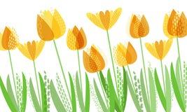 Ressort lumineux abstrait, modèle floral Image stock