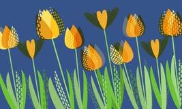 Ressort lumineux abstrait, modèle floral illustration libre de droits