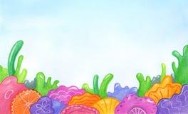 Ressort ou fond floral abstrait d'été Photos stock