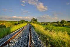 Ressort sur le chemin de fer photos stock
