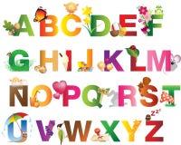 Ressort, été, nature et alphabet de Pâques Photographie stock libre de droits