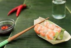Ressort vietnamien Rolls avec des crevettes Photos libres de droits