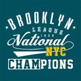 Ressortissant de ligue de Brooklyn de conception Photographie stock libre de droits