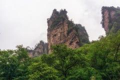 Ressortissant Forest Park de Yuanjiajie photos libres de droits