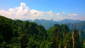 ressortissant pittoresque Forest Park de Zhangjiajie images libres de droits