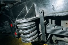 ressorts, amortisseurs locomotifs Photo libre de droits