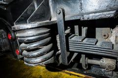 ressorts, amortisseurs locomotifs Image stock