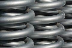 Ressorts en acier utilisés dans les machines lourdes Photo stock