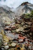 Ressorts géothermiques d'Ulumbu Photos libres de droits