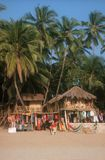 Ressource à la plage de Palolem. l'Inde. Image libre de droits