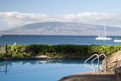 Ressource d'hôtel sur Hawaï Images libres de droits