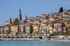 Ressource méditerranéenne de Menton - la Côte d'Azur Photo stock
