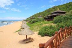 Ressource tropicale sur la plage Photographie stock libre de droits