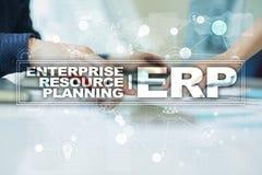 Ressources d'entreprise prévoyant le concept d'affaires et de technologie Photo stock