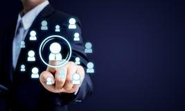 Ressources humaines, CRM et concept d'affaires de recrutement, spac de copie Photographie stock libre de droits