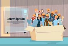 Ressources humaines de Team Architect Mix Race Workers de constructeur illustration libre de droits