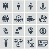Ressources humaines et icônes de gestion réglées. Images stock