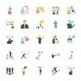 Ressources humaines et icônes 10 de vecteur colorées par gestion illustration stock